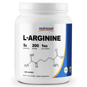 Nutricost L-아르기닌 파우더 1kg L-Arginine Powder