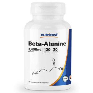 Nutricost 베타 알라닌 3400mg 120캡슐 Beta-Alanine