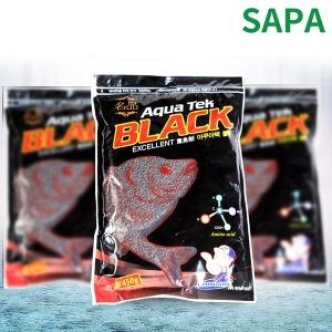 싸파 떡밥 아쿠아텍 블랙 미끼 민물 어분 낚시용품