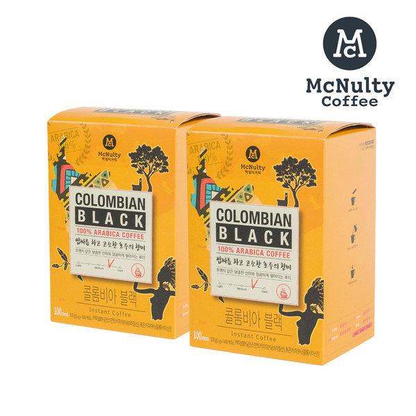 콜롬비아 블랙 100T 인스턴트 커피 2개 (총 200T)
