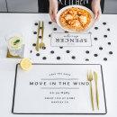 북유럽 방수코팅 반투명 식탁 테이블매트 4종 택일