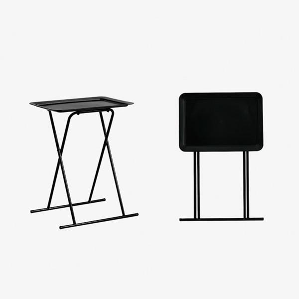 씨티 PC 책상 1인용 식탁 접이식 사이드 테이블 블랙