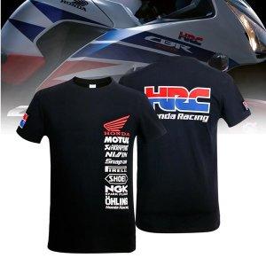 혼다 오토바이 바이크 반팔 티셔츠 여름용 블랙