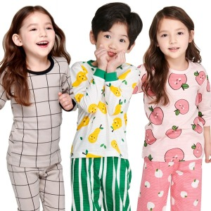 국산 무형광 유아/아동/주니어/내의/내복/잠옷/실내복