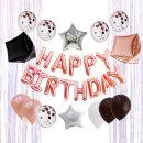 생일파티세트 HA_로즈골드 / 생일풍선세트 생일파티