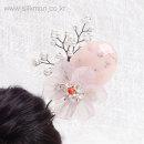벚꽃 뒤꽂이(분홍색) / 한복 올림머리 셀프 웨딩 혼주