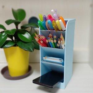 스탠드형 사선 연필꽂이 펜 꽂이 필통 책상정리 스카이