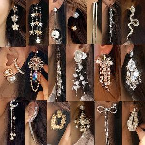 로라스타일 여름 신상 귀걸이 타슬 롱 볼드 은침 패션