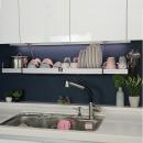 퀸_304(길이조절)부착식 식기 건조대 설거지 그릇 1200