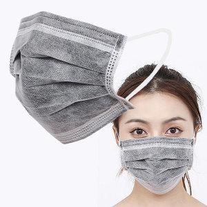 일회용 마스크 60매 그레이 면 입체 패션 블랙 3D