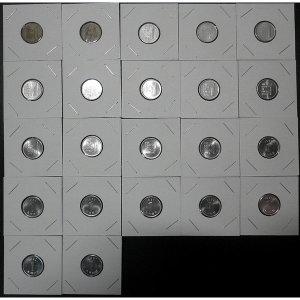 한국은행 1원 주화 1967년~1991년 21종 동전 세트