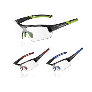 ROCKBROS 사이클링 무테 UV400 변색 선글라스