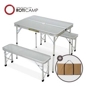 접이식 캠핑 의자 분리형 알루미늄 테이블 실버
