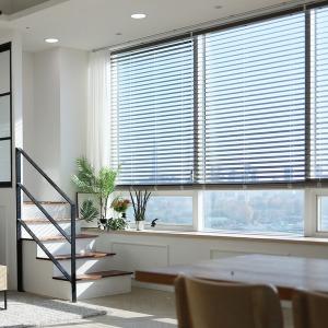 창안애 UV자외선차단 우드블라인드 40 x 40