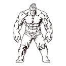 근육 남자 벽스티커