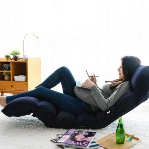 1인용 안락의자 각도조절 등받이 좌식 의자 쇼파베드