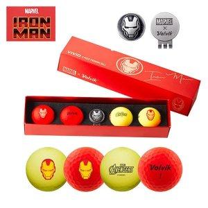아이언맨 컬러 골프공 볼마커세트 4구 선물용 골프용