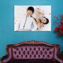 캔버스액자 20x30(50x75cm)결혼 웨딩 가족사진 돌잔치