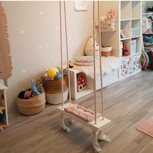 어린이 실내 원목 그네 의자 야외 놀이터 정원 장난감