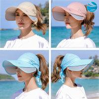 여성 여름 선캡 운동 등산 해변 여행 챙넓은 창 모자