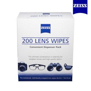 자이스 일회용 렌즈크리너 200매 /안경닦이/휴대폰