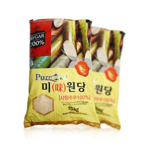 (국내 이물질제거 공정) 비정제 원당 15kg 사탕수수당