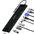 바이링크 썬더볼트3 노트북 12 in 1 멀티 허브 - 블랙