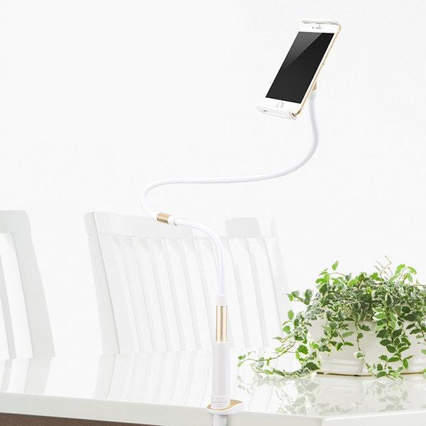 브라이트 침대 스마트폰 자바라 거치대-실버 120cm