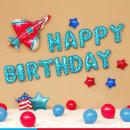 (지호) 베이비 비행기 생일풍선세트