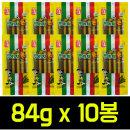 월드컵맛기차콘 84g x10봉 쫀드기/아폴로/브이콘/과자