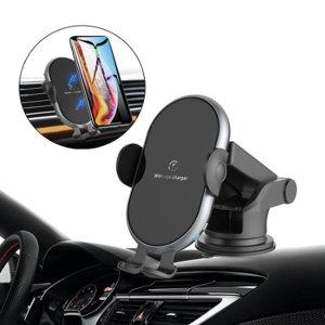 1+1 차량용 무선 고속충전 핸드폰 거치대 FOD센서