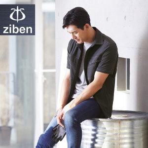 스판반팔셔츠 ZB-Y2041 지벤 춘하 봄 여름 작업복