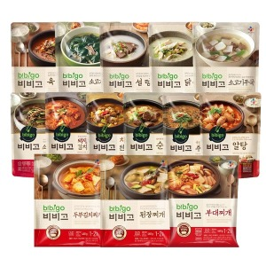 CJ 비비고 국/탕/찌개 18종 모음