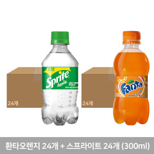 스프라이트 24pet + 환타오렌지 24pet (각 300ml)