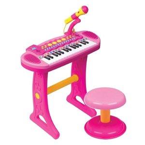 바니 어린이 마이크 피아노 멜로디장난감 어린이피아