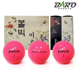 볼빅 미르 골프공 (컬러볼-분홍) 12구 비거리용