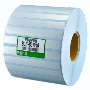 은무지 80X10mm 40지관 은무데드롱지 BLS-801040
