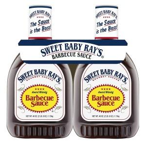 Sweet Baby Ray s 바비큐 소스 40oz(1.13kg) 2개입