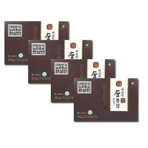 NEW 농협홍삼 6년근 한삼인 순홍삼 4박스(총120포)