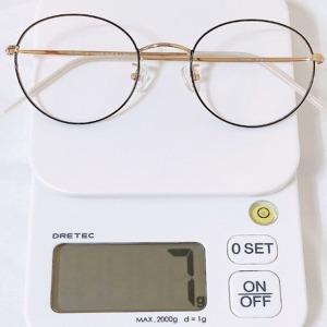 7g 동글이 베타 티타늄 안경테 블루라이트 차단 안경