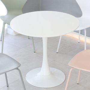 유니테이블 1000원형 화이트 식탁 카페 티테이블