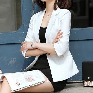 7부 여성자켓 캐주얼 신상 린넨자켓 여자 봄 여름자켓
