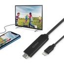 코시 맥스 8핀 HDMI FullHD 스마트폰 미러링 케이블2M