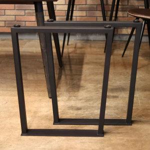 클래식 우드슬랩 철재프레임 테이블 식탁 다리 (대)