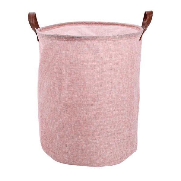 마녀의생활 접이식 세탁바구니 대용량 핑크