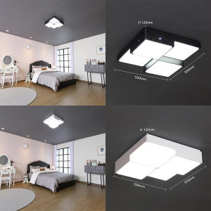 LED방등 큐브등 4등 50W 인테리어등 블랙 화이트