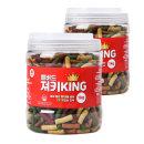 져키킹 대용량 강아지 간식 1kg (M) / 2개