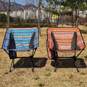 코코아이티 경량 캠핑 체어 의자 폰거치가능 오렌지
