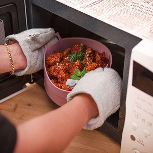 국산 에어프라이팟 실리콘 에어프라이어 용기 그릇