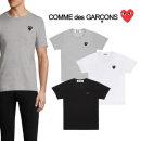 꼼데가르송 남성 블랙 하트 반팔 티셔츠
